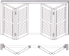 bi-fold shutter system