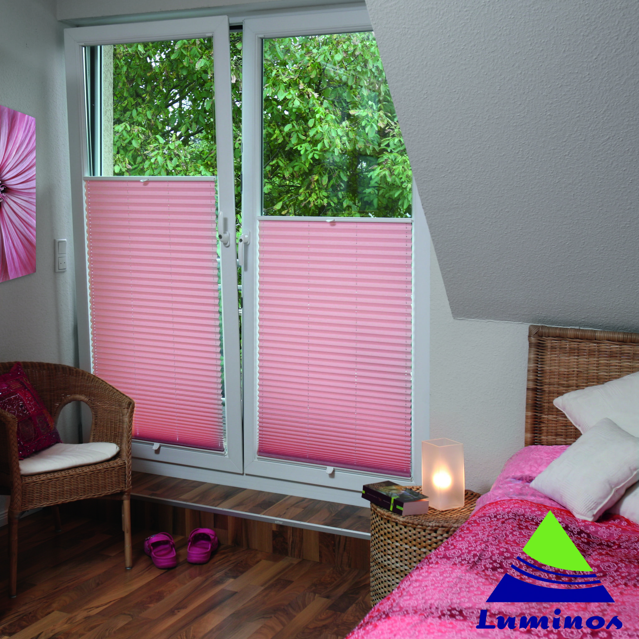 Lumi Plisse Pleated Blinds